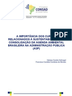 A importância dos cursos relacionados à sustentabilidade na consolidação da A3P - publicado