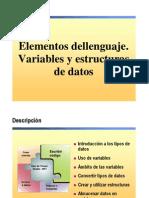 3.- Elementos Del Lenguaje. Variables y Estructuras de Datos