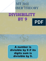Divisiblility by 9