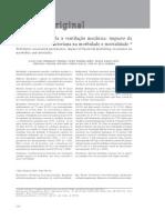 PAV E Mortalidade e Morbidade Em CTI