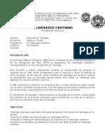 Sílabo Jaén  Liderazgo Cristiano