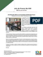 Boletín 039_ Socialización APS en el municipio de Miranda-Cauca
