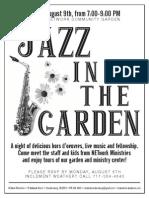 2013 Jazz in the Garden Flyer