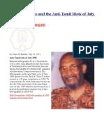 Ian Goonetileke and the Anti-Tamil Riots of July 1983