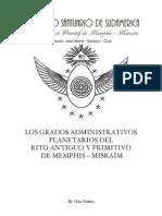 Grados Planetarios del Rite Ancien et Primitif de Memphis - Misraim
