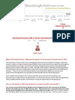 Gold Deposit Scheme 1999 and Recent Changes