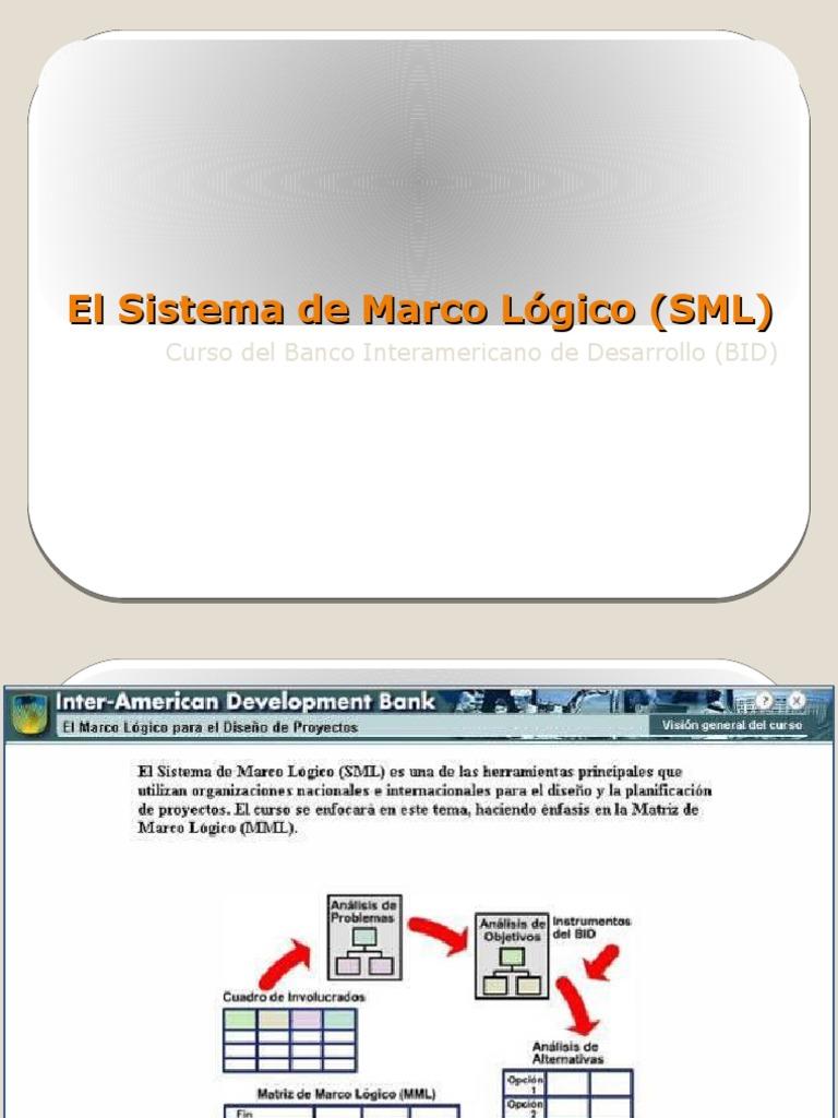 Sistema de Marco Lógico
