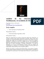 Sergio Gómez Chávez y Julie Gazzola  - Análisis de las relaciones entre Teotihuacán y el occidente de México