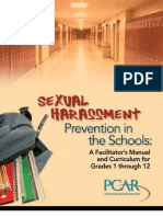 Sexual Harassment Prevention in Schools Curriculum Manual