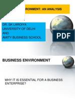 Business Environment -An Analysis