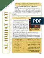 Al-Hujjat APRIL Newsletter 2013