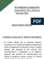 REFORMA AL 3° y 73, PRIVATIZACIÓN DE LA EDUCACIÓN Y PERDIDA DE DERECHOS LABORALES
