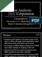 14425723 IBM Corporation a Case Analysis