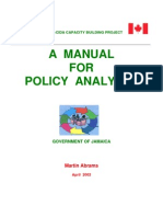 A manual for policy analysts