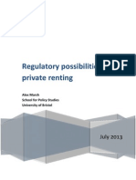Regulatory possibilities for private renting
