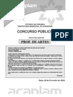 Acaplam 2010 Prefeitura de Aroeiras Pb Professor II Arte Prova