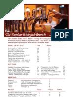 the dunbar brunch wine list april 2013