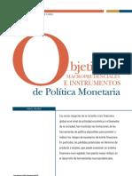 Objetivos Macroprudenciales e Instrumentos de Politica Monetaria