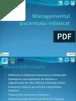 Managementul pacientului intoxicat