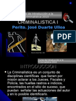 Introduccion a La Criminalistica