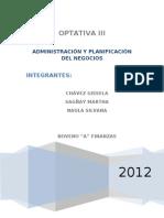 ADMINISTRACIÓN Y PLANIFICACIÓN DE NEGOCIOS