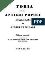 Giuseppe Micali - Storia Degli Antichi Popoli Italiani Vol. 1 (1832)