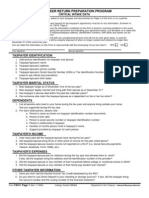 TY 2004 Intake and Interview Sheet