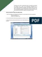 Instrucciones de Vinculacion de Modelo y Excel