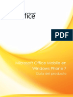 Microsoft Office Mobile en Windows Phone 7 - Guía del producto