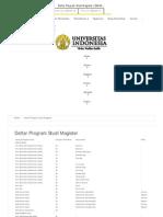 Daftar Program Studi Magister _ SIMAK UI
