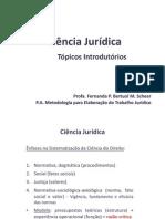 Ciência Jurídica _ Tópicos Introdutórios