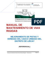 Manual de Mantenimiento de Vias Rigidas