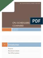 Cpu Schedulers Compared