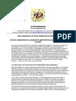 20 Vía Campesina y Soberanía alimentaria