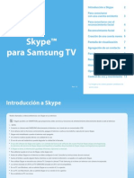 Smart TV Samsung-Skype Manual Usuario