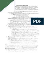 Il Bar Exam Outlines - Ilinois Civil Procedure