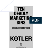 Ten Deadly Marketing Sins - Philip Kotler