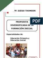 Propuesta Diversificada Formacion Inicial