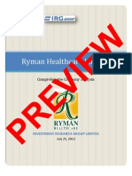 Ryman Research Report