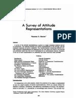A Survey of Attitude Representations