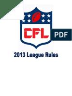 CFL Rules