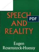 Speech and Reality - Eugen Rosenstock-Huessy