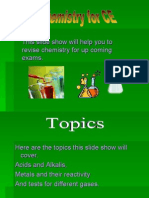 This Slide Show Will Help You to Revise Chemistry