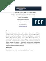 INFORME DE VALIDACION Y EVALUACIÓN DE MODULOS INSTRUCCIONALES