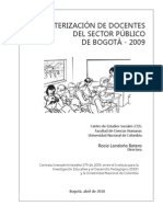 Caracterizacion de Docentes Sector Publico Bogota 2009 Parte1