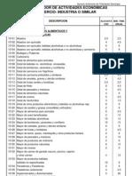 Clasificador Actividades  Economicas 2006