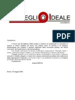 Lettera Invito Adesione Risveglio Ideale