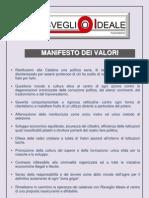 Risveglio Ideale Manifesto Dei Valori