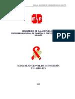 Manual Nacional de Consejeria VIH-SIDA-ITS