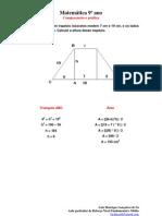 120 – As bases de um trapézio isósceles medem 7 cm e 19 cm, e os lados não paralelos, 10 cm. Calcule a altura desse trapézio.